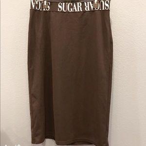 SHEIN Sugar 1XL black pencil skirt